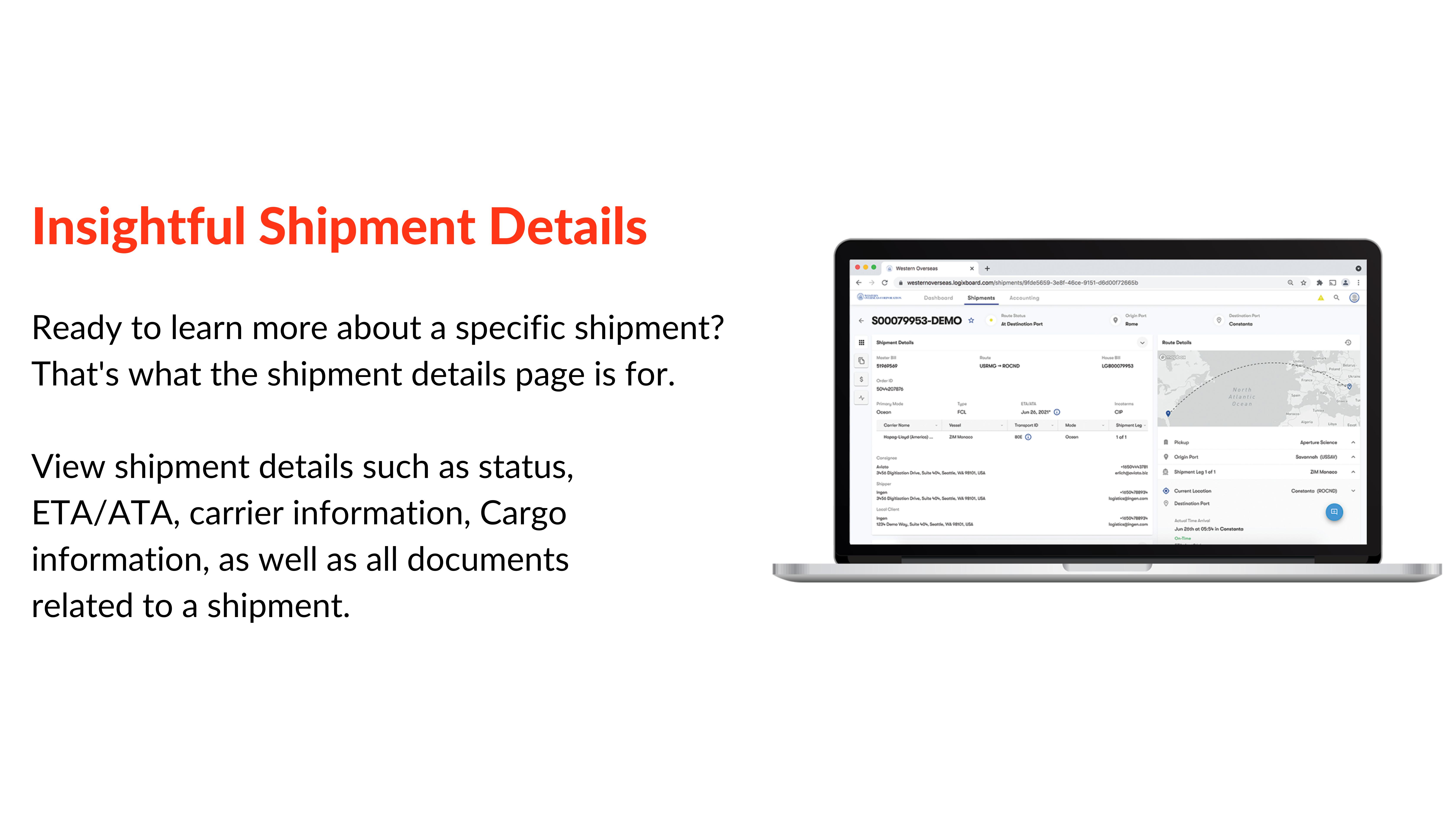 insightful shipment details